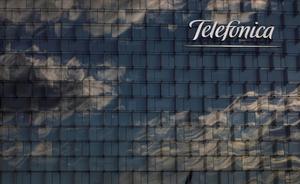Telefónica vende la división de torres de Telxius a American Tower. En la foto, fachada de las oficinas de Telefónica en Madrid.