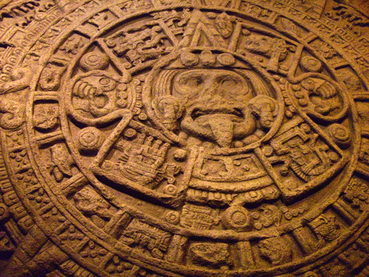 Una estela maya.
