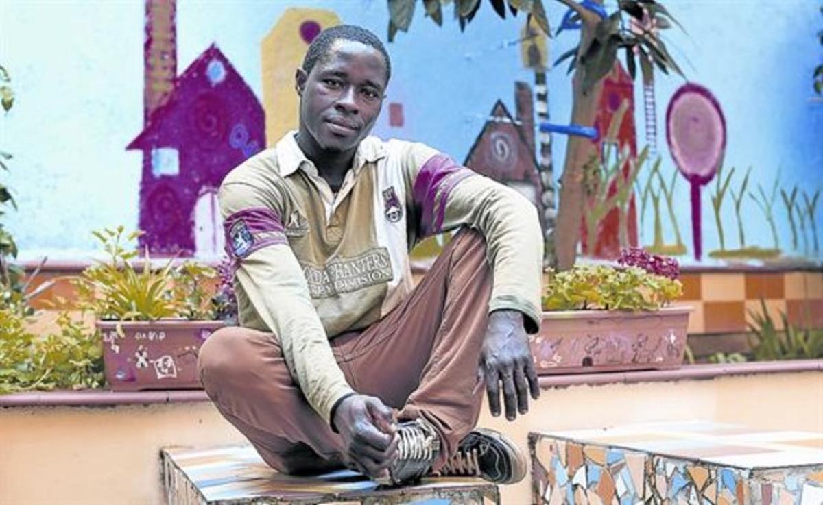 Benjamin Atta Asiedu, un joven extutelado que ya ha encontrado trabajo.