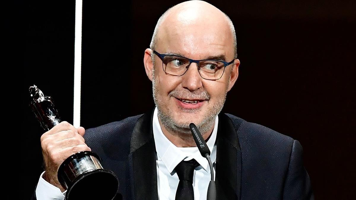 Juanjo Giménez, con el premio a mejor corto europeo por 'Timecode'