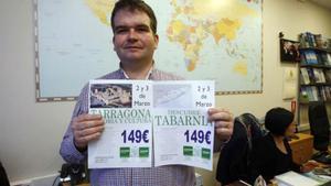 Javier Blasco, responsable de la oficina de Zafiro Toursde Duquesa Villahermosa en Zaragoza