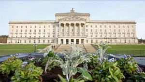 El Parlamento de Stormont, en Belfast.