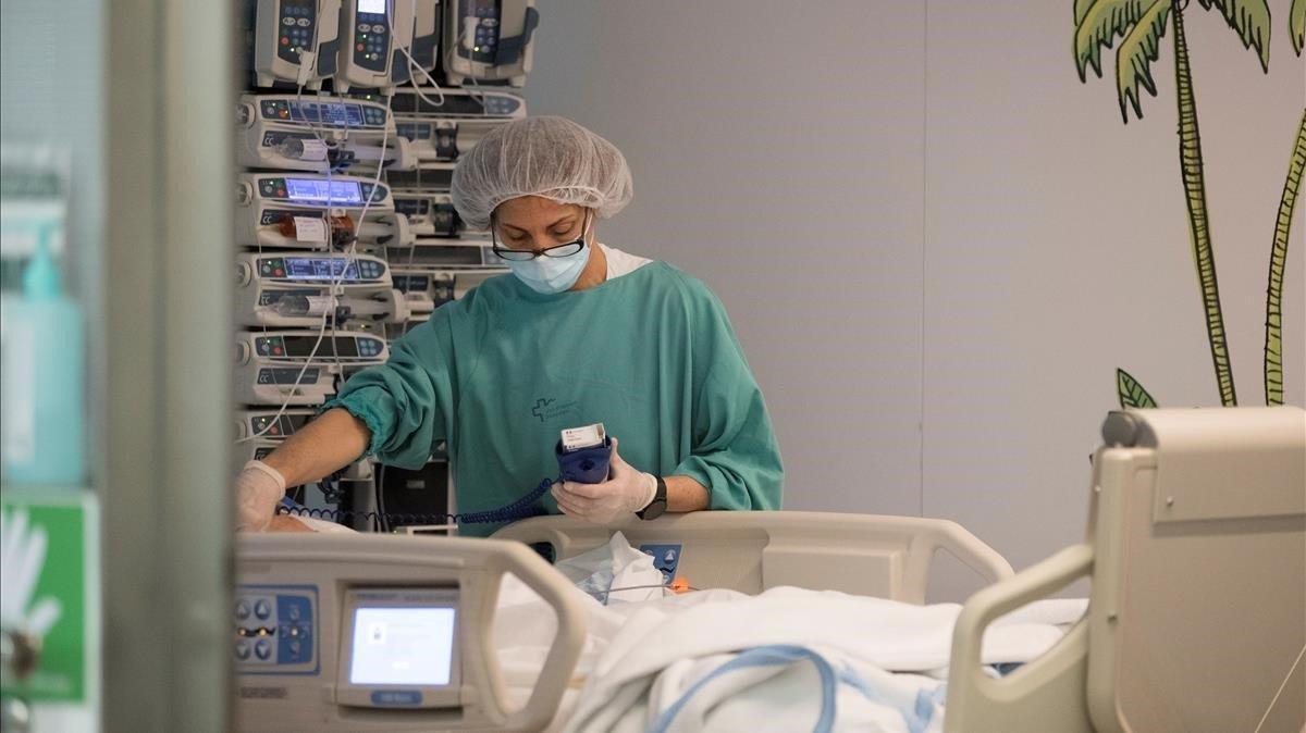 Una uci del Hospital Vall d'Hebron de Barcelona el pasado 15 de mayo.