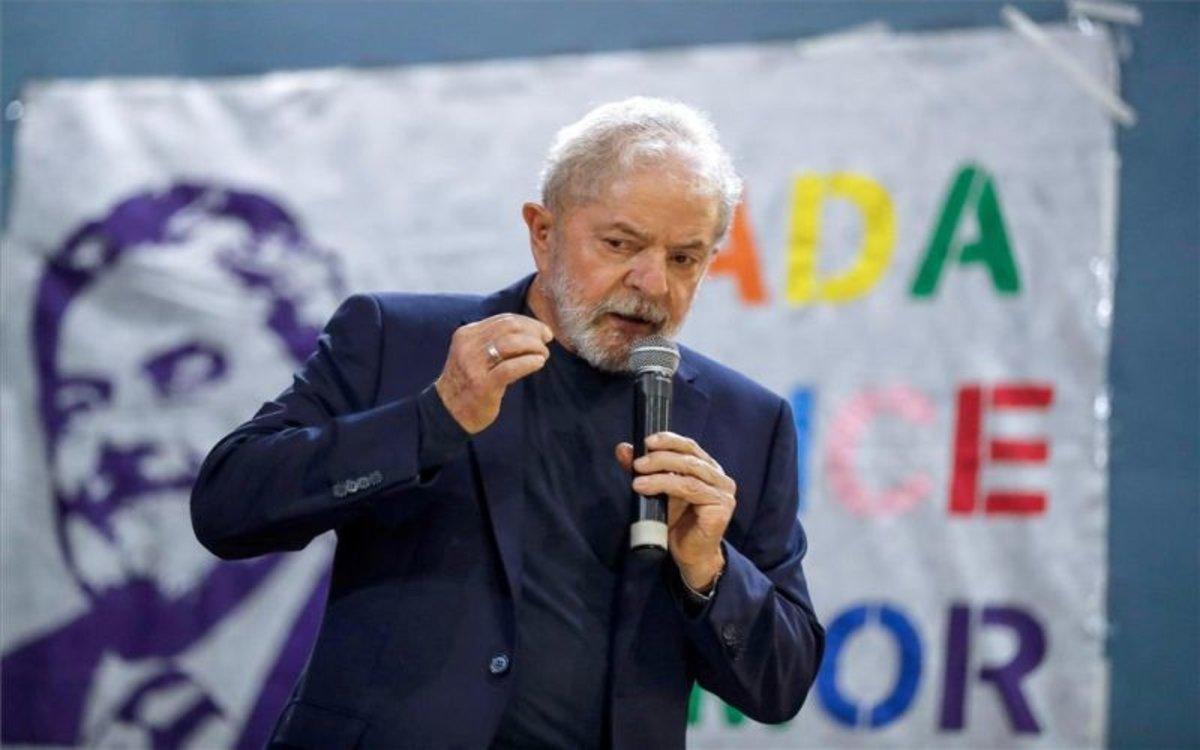 Luiz Inácio Lula da Silva en un acto público.