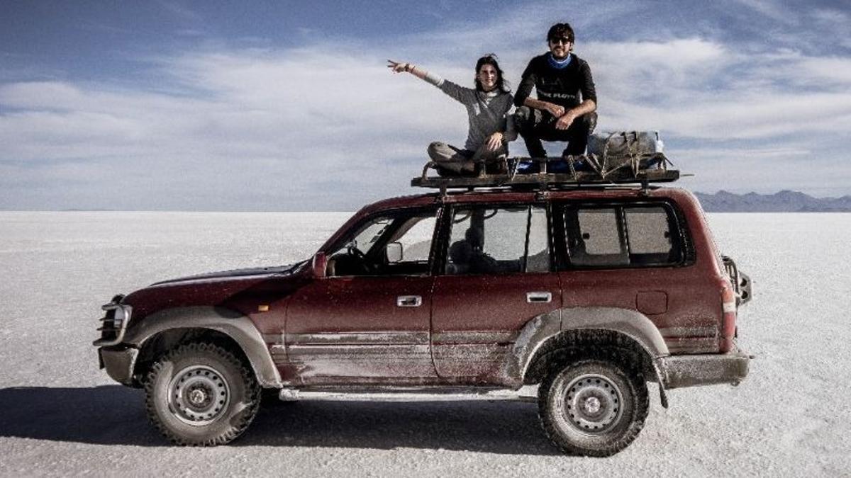 Pablo y Let en uno de sus viajes antes de la llegada de la pandemia.