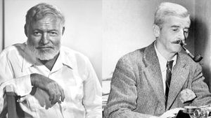 Ernest Hemingway y William Faulkner.