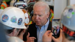 El candito del Partido Demócrata,Joe Biden.