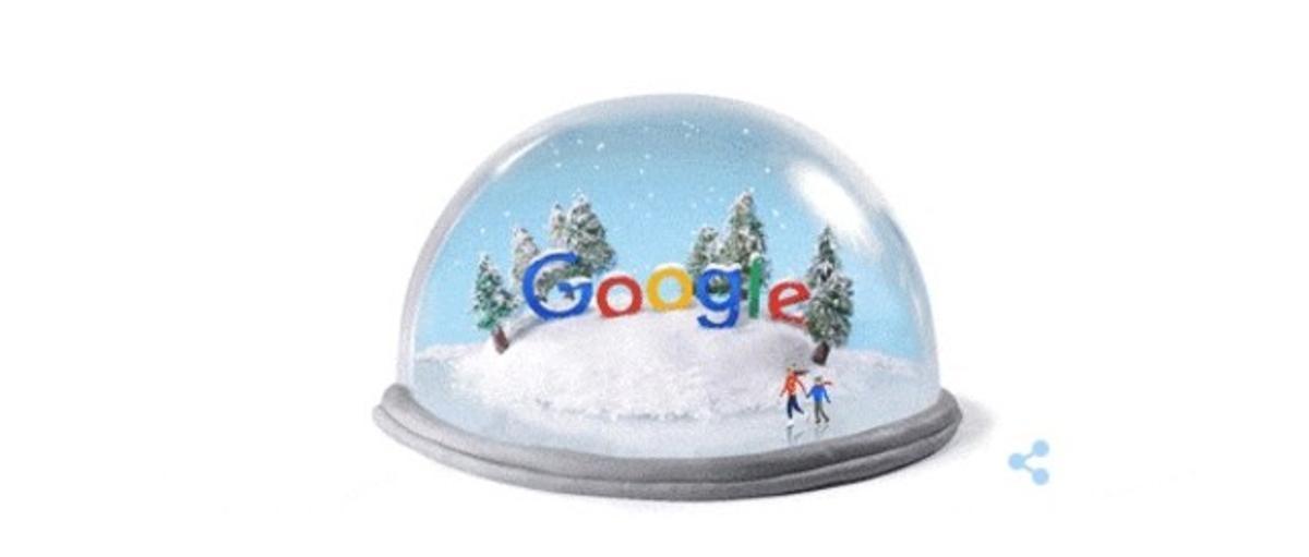 Google dedica el seu 'doodle' al solstici d'hivern