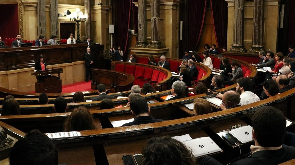 El pleno del Parlament.
