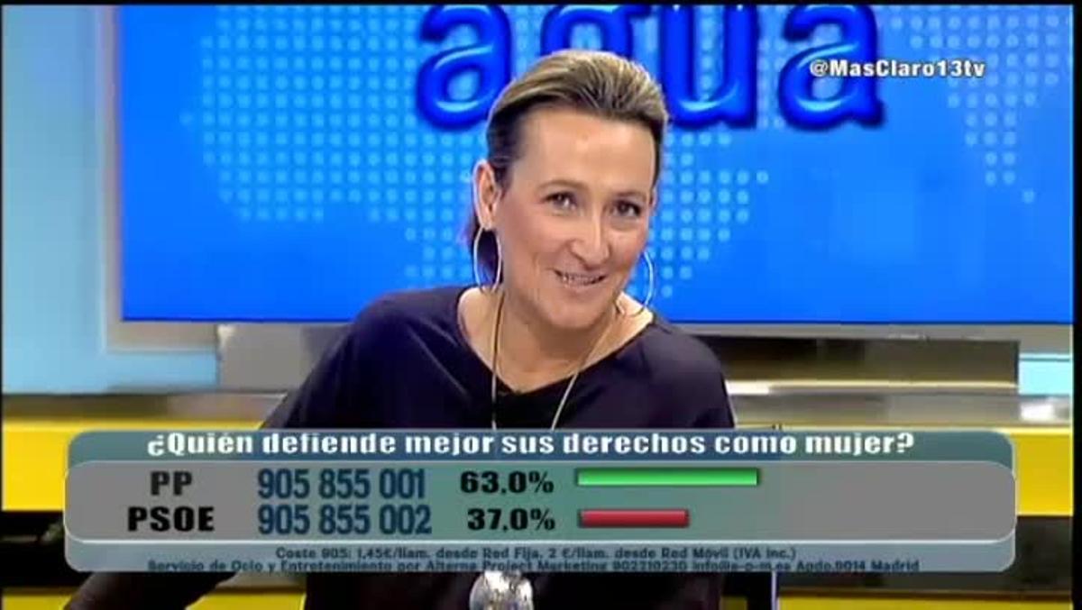 Alusión que el programa 'Más Claro Agua' hizo a Podemos, partido encabezado por Pablo Iglesias.