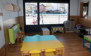 Aula de la escuela infantil Els Esquirolets, en Llívia (Cerdanya).