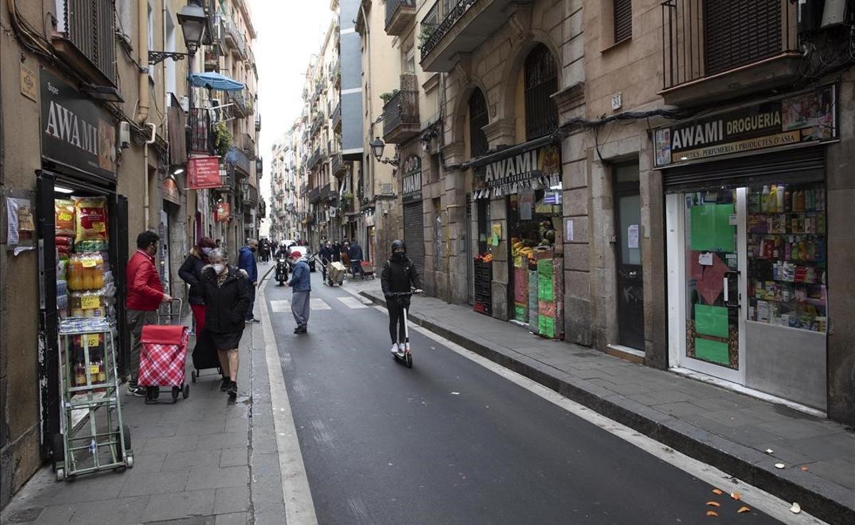 Calle de Sant Antoni Abad, una de las afectadas.