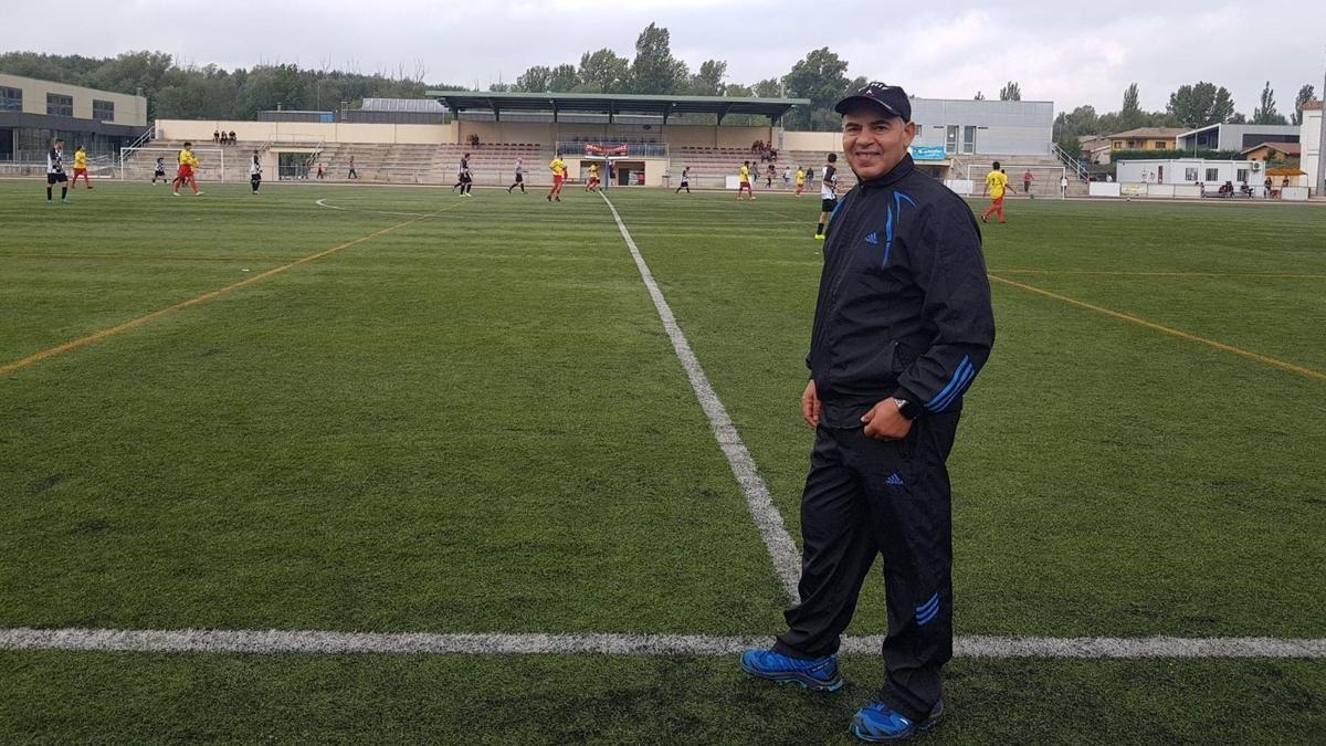 Abderrahman El Haitout, antes de un entrenamiento.