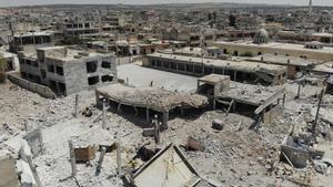 Bombardeos aéreosen Libia.