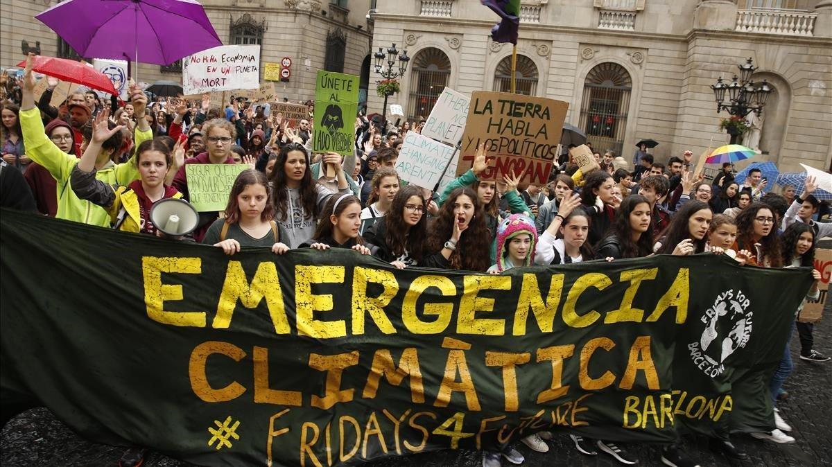 Manifestación contra el cambio climático en Barcelona, el pasado 24 de mayo.