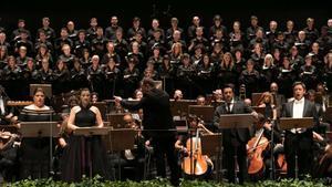 Inauguración del Festival Castell de Peralada, con el 'Réquiem', de Verdi, en memoria de Carmen Mateu.