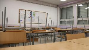 Una clase vacía durante el confinamiento.