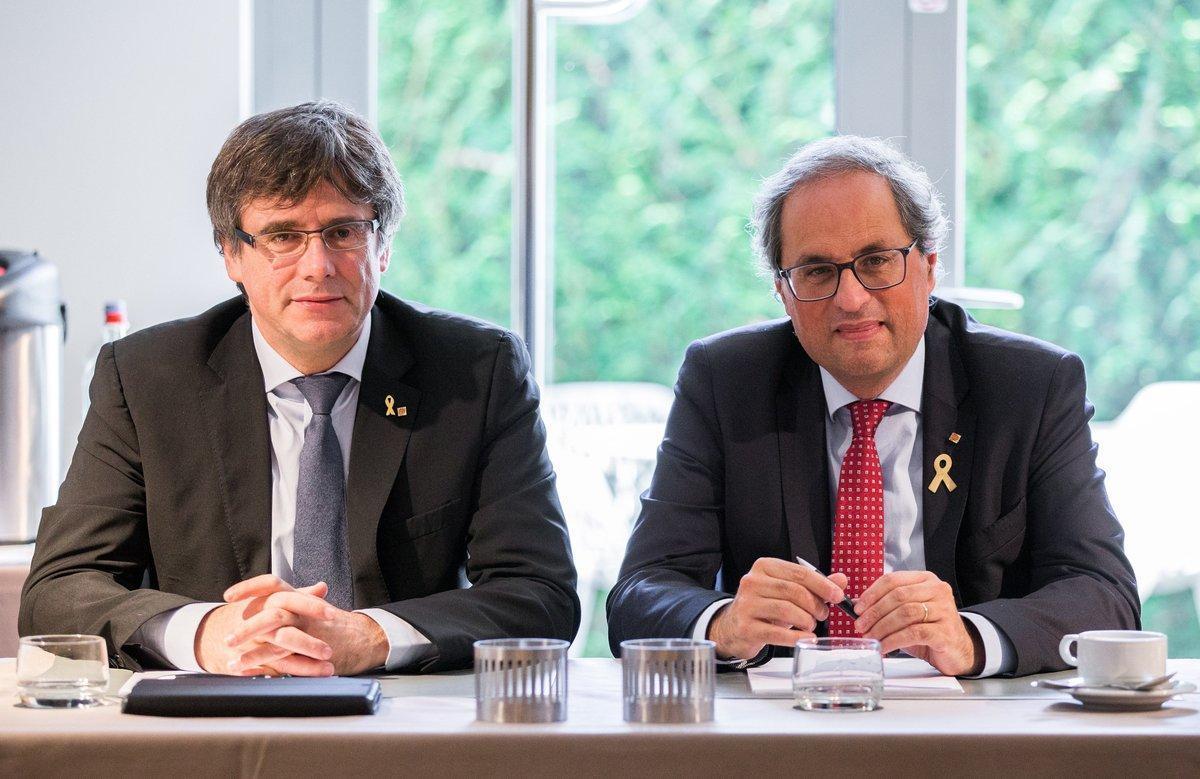 Puigdemont y Torra, en Waterloo, el pasado 22 de octubre.