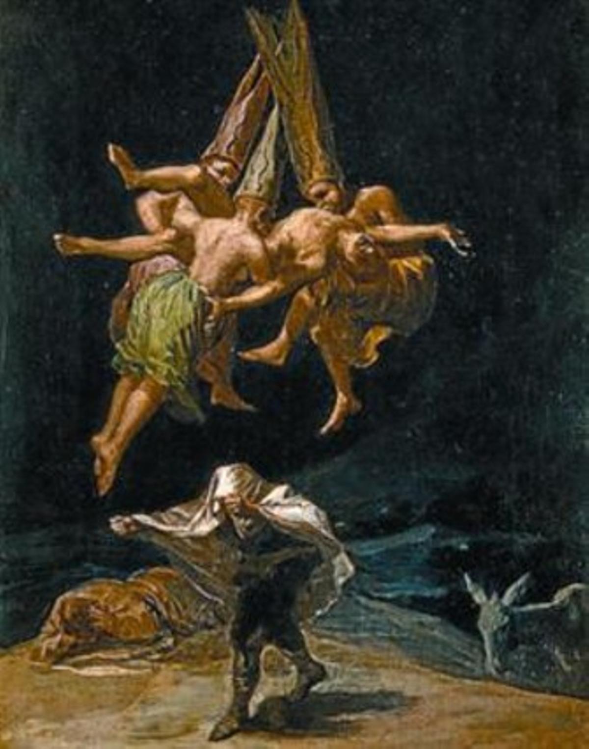 IMPRESCINDIBLES 3 A la izquierda, 'Vuelo de brujas' (1797), de Goya