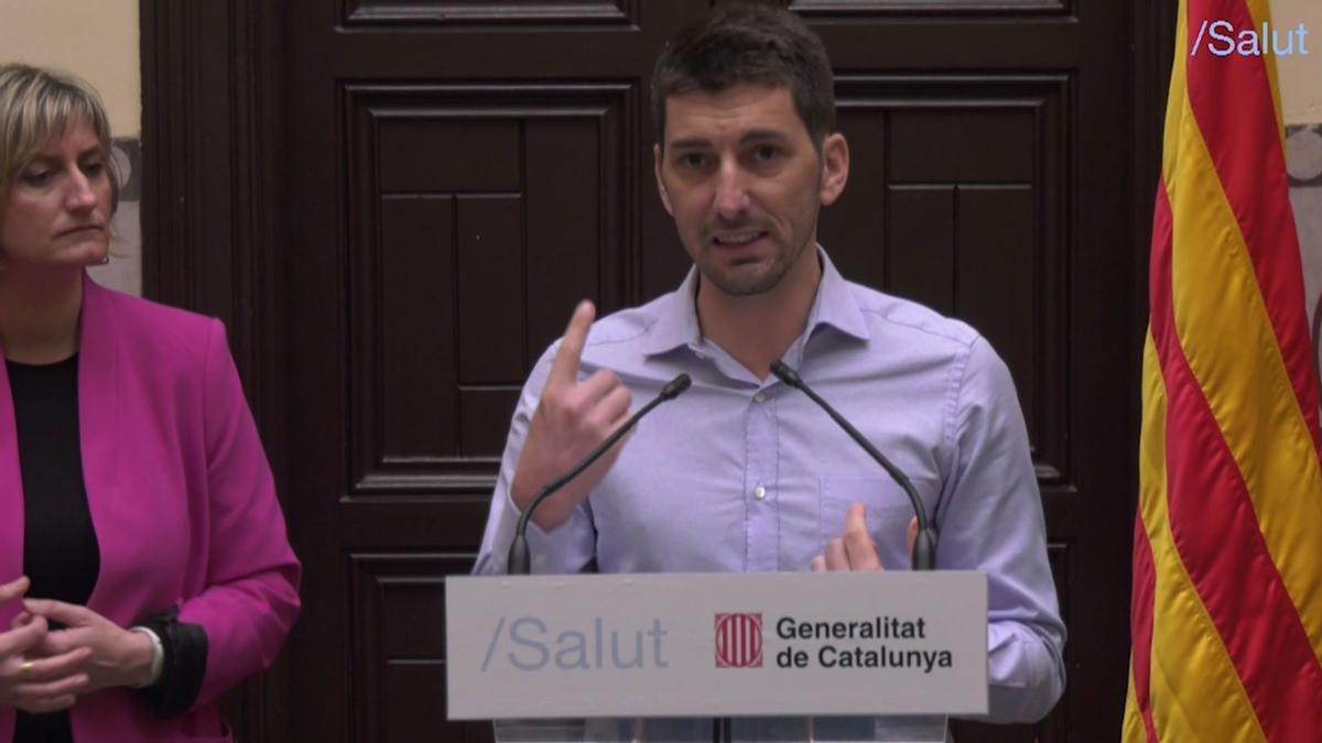 Catalunya inicia un ensayo clínico para reducir el contagio del coronavirus. En la foto, Oriol Mitjà, en la presentación del estudio.