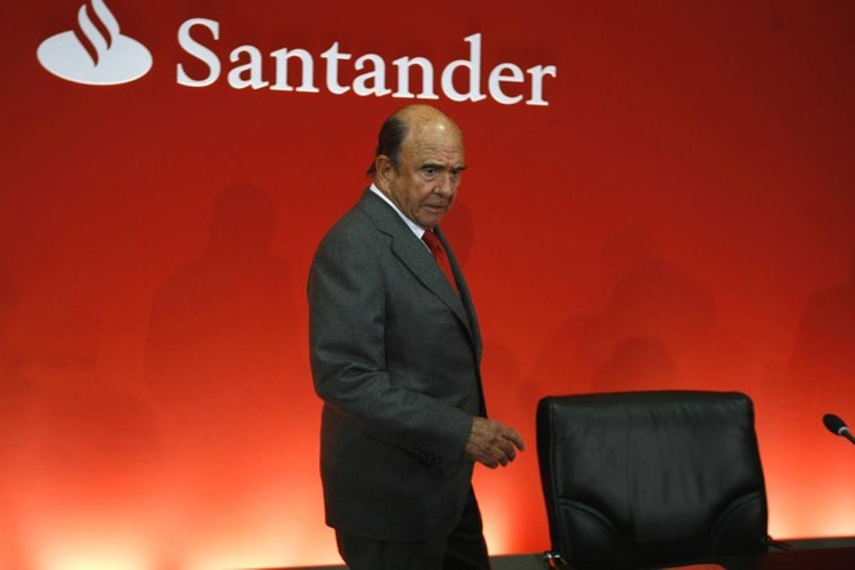 Emilio Botín, este martes, durante la presentación de resultados del Santander.