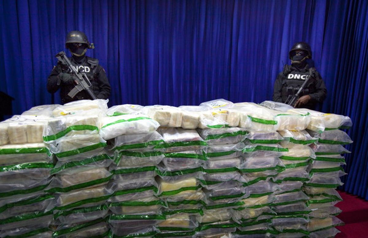 En enero del 2014 se incautó una tonelada de cocaína en Santo Domingo, que iba con destino a Barcelona.