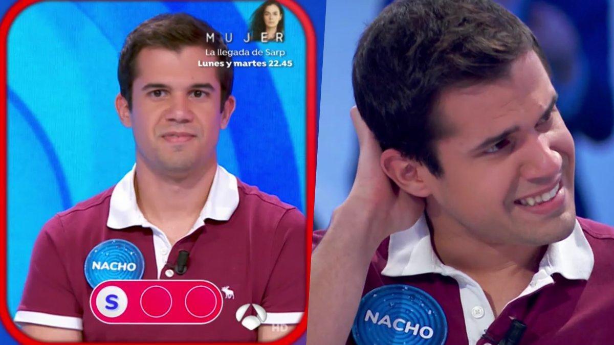 Nacho Mangut, eliminado de 'Pasapalabra' tras 80 programas.