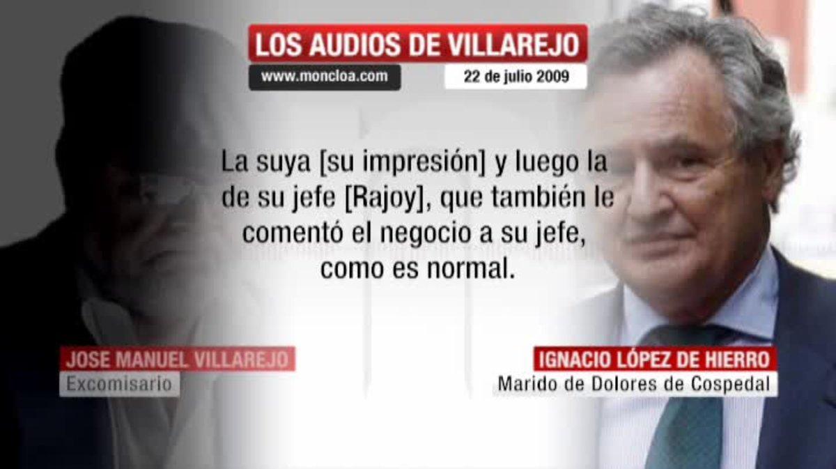 El marido de Cospedal le aseguró a Villarejo que la entonces secretaria general ya había informado a su 'jefe'.