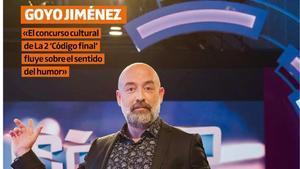 Portada del suplemento 'Teletodo' protagonizada por el humorista Goyo Jiménez.