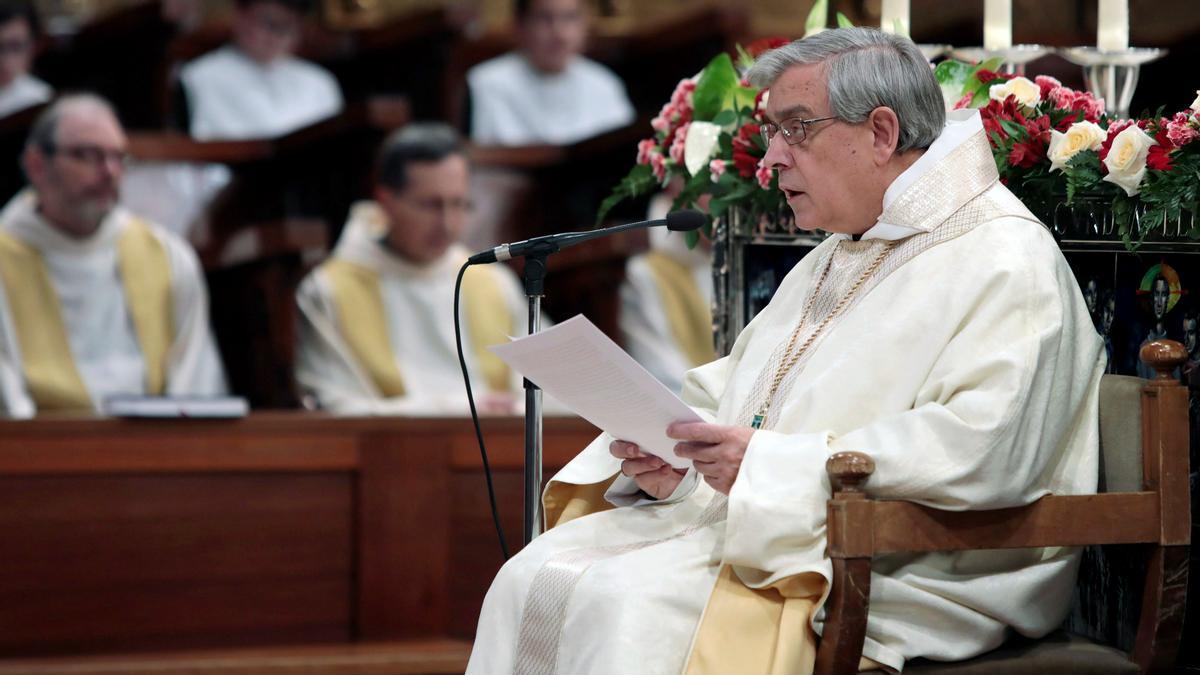 El abad de Montserrat Josep María Soler