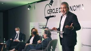 Barcelona  16 04 2021   Acto de la ministra Teresa Ribera enel Cercle de Economia