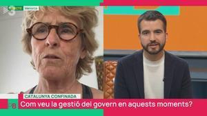 Mercedes Milá retreu a Ricard Ustrell que diferenciï «entre Espanya i Catalunya» a TV3: «Quina mania»