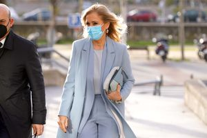 La expresidenta de la Comunidad de Madrid Cristina Cifuentesa su llegada a la Audiencia Provincial de Madrid donde finaliza el juicio Master como imputada.
