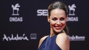 Eva González, en la gala de los Premios Ondas,celebrada en Sevilla.