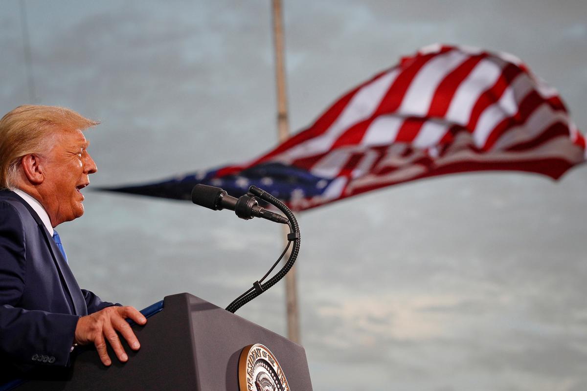 Donald Trump el pasado mes de septiembre en un acto electoral en Jacksonville, Florida.