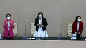 """Los 'comuns' acusan a Borràs de querer rebajar el """"umbral ético"""" del Parlament"""