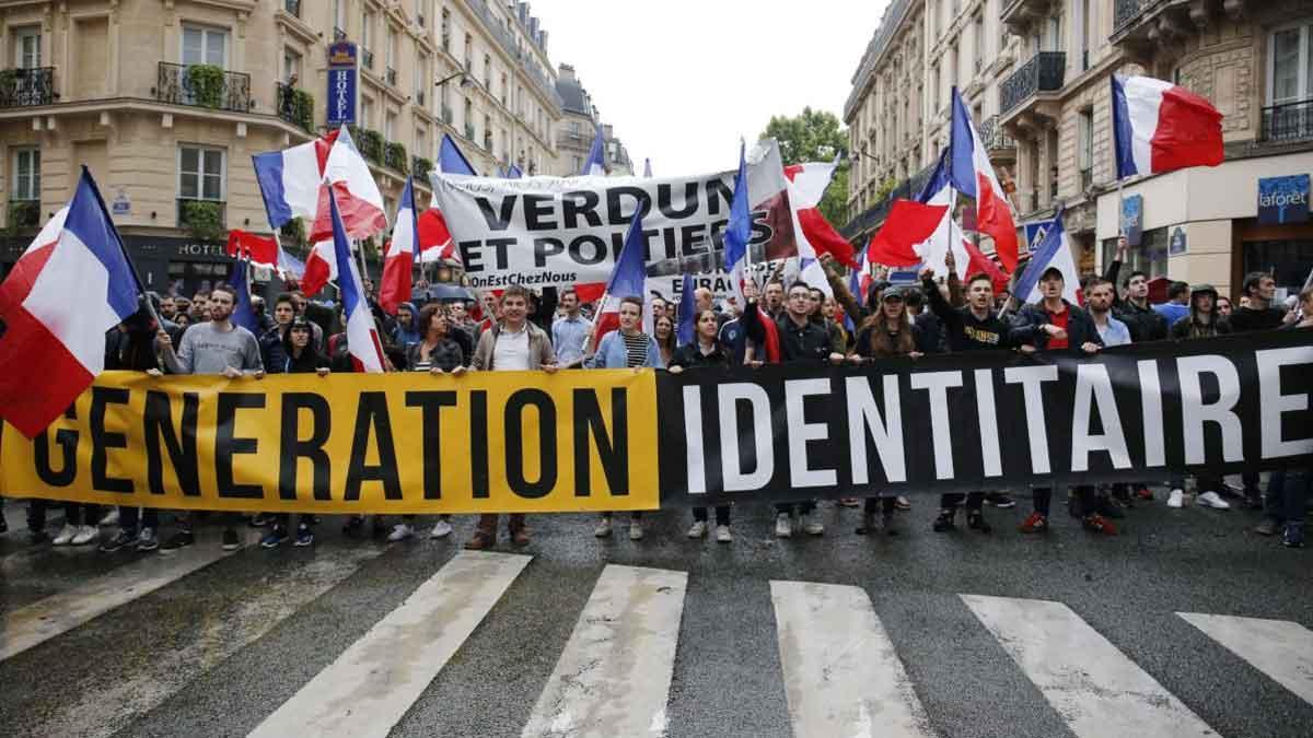 Una marcha del grupo Génération Identitaire.