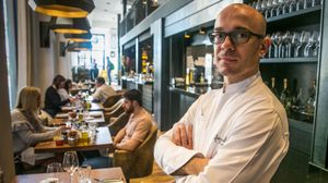 Marc Gascons, en el restaurante Informal.