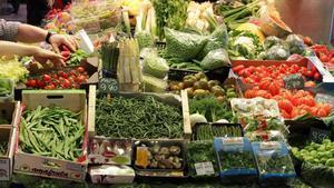 La venedora de fruites i verdures