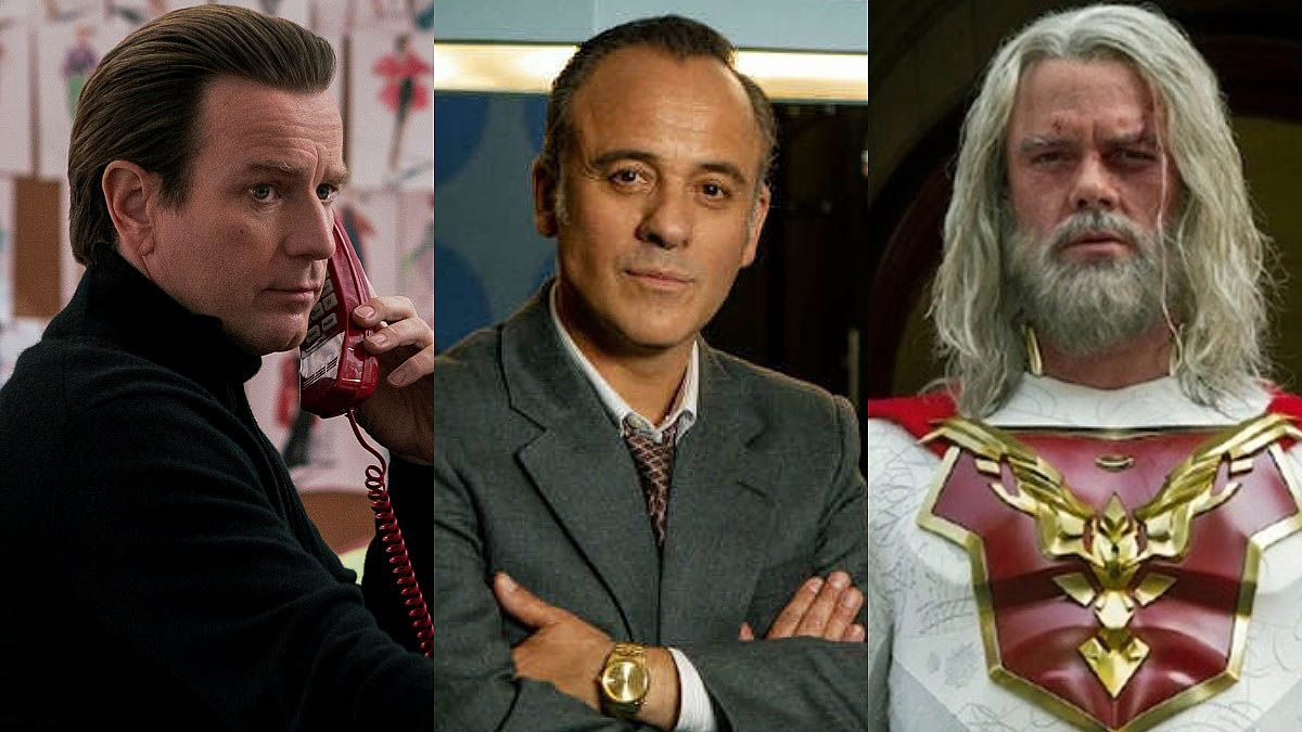 Ewan McGregor en 'Halston', Javier Reyes en 'Reyes de la noche' y Josh Duhamel, en 'Jupiter's legacy'.