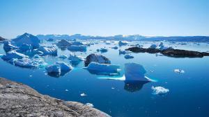 El iceberg Fiordo de Groenlandia.