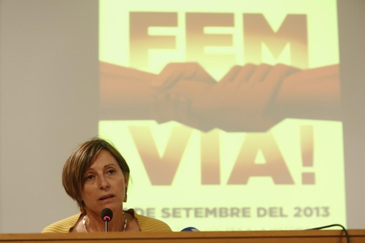 Carme Forcadell da detalles sobre la Via Catalana, el pasado 3 de septiembre.