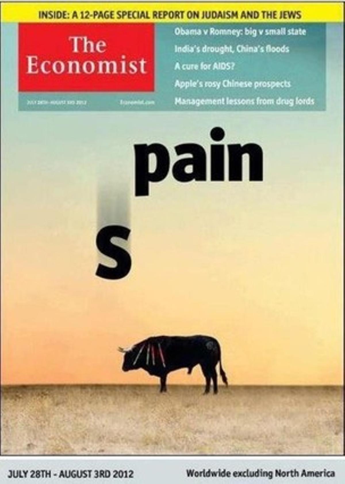 Portada del semanario económico británico 'The Economist'.