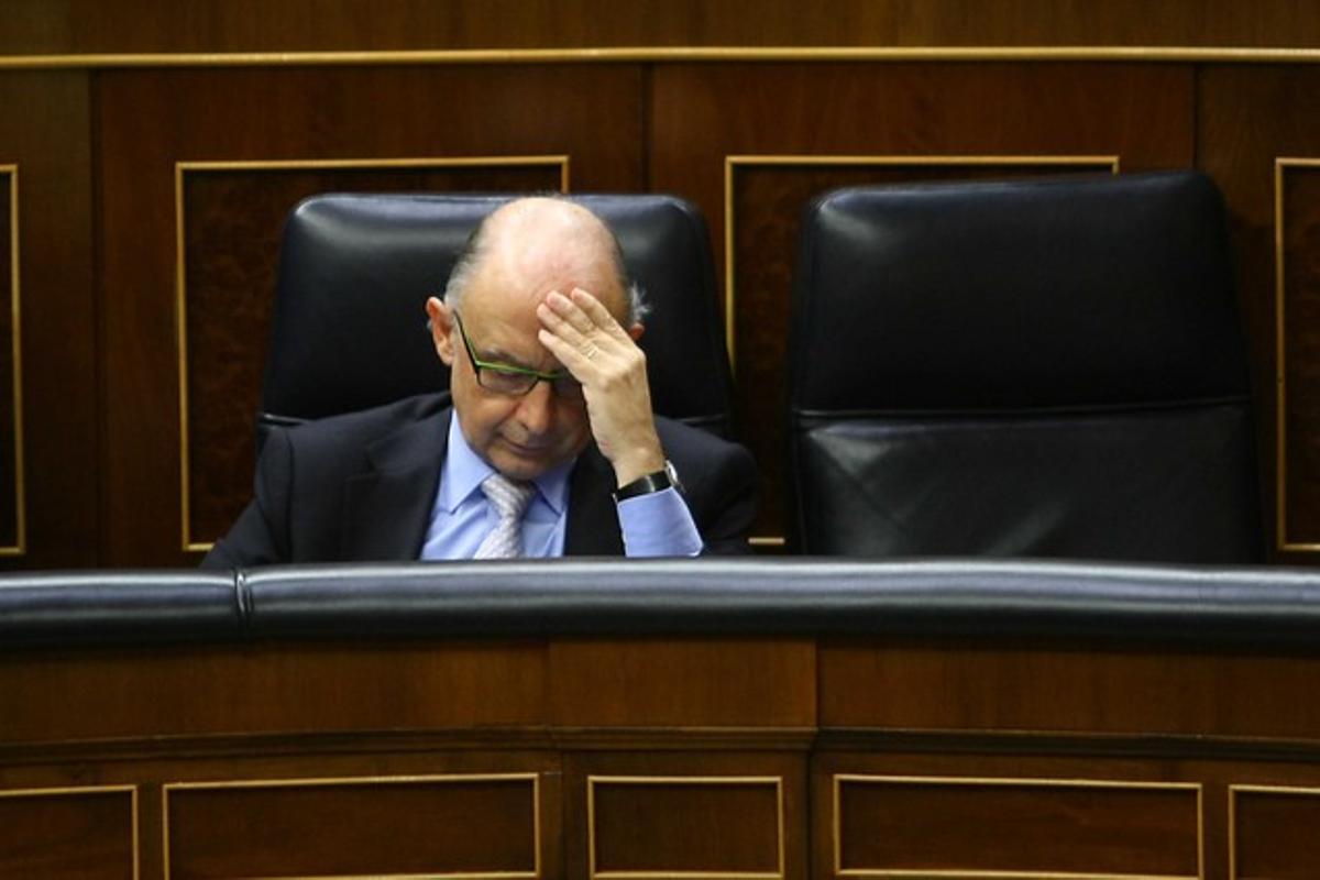 El ministro de Hacienda, Cristóbal Montoro, el pasado día 20, en el Congreso.