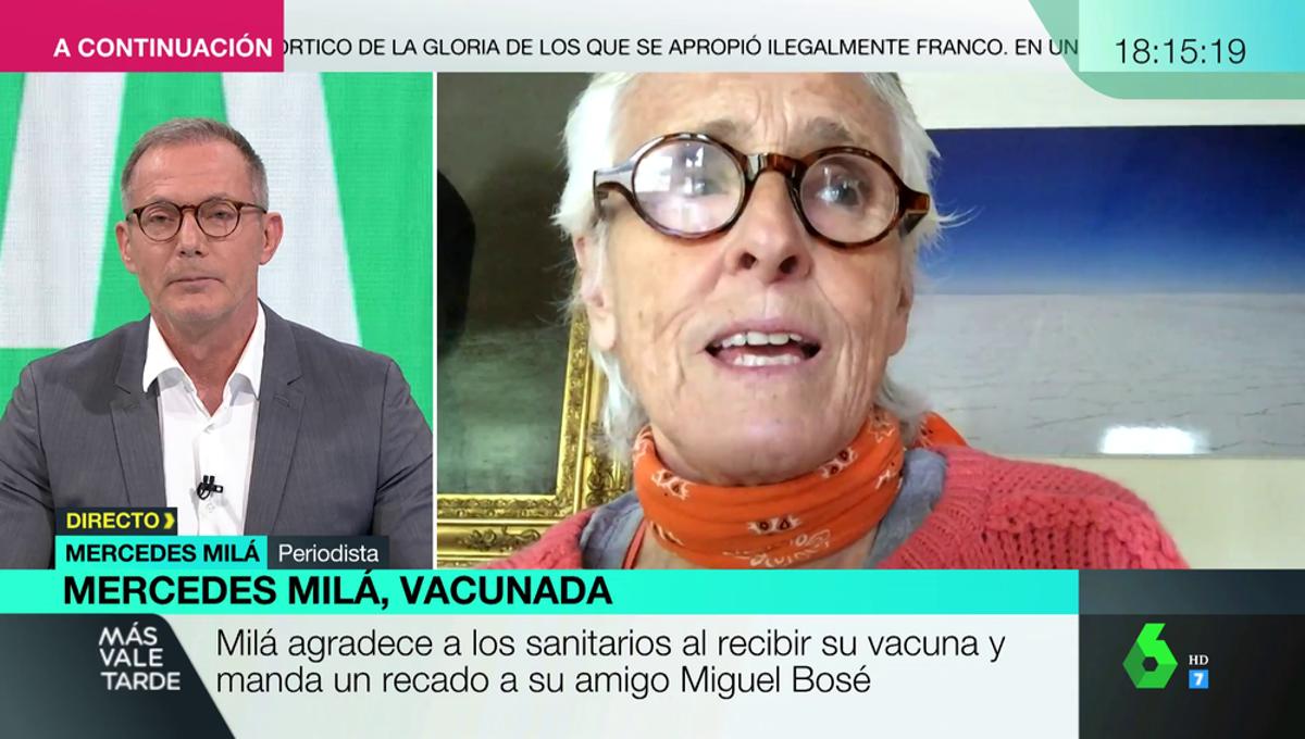 Mercedes Milá en 'Más vale tarde'