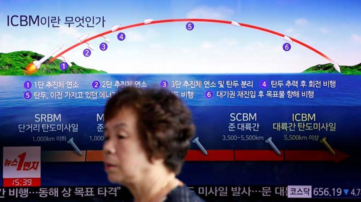 Corea del Norte disparó al menos un proyectil en dirección al Mar de Japón.