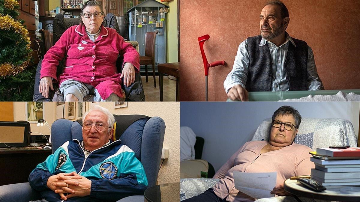 Cuatro afectados por las listas de esperahablan con EL PERIÓDICO.