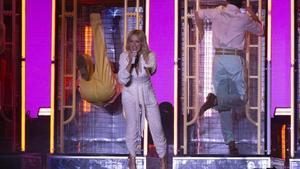 La estrella australiana Kylie Minogue en la última noche de conciertos del Cruïlla, en el Parc del Fórum.