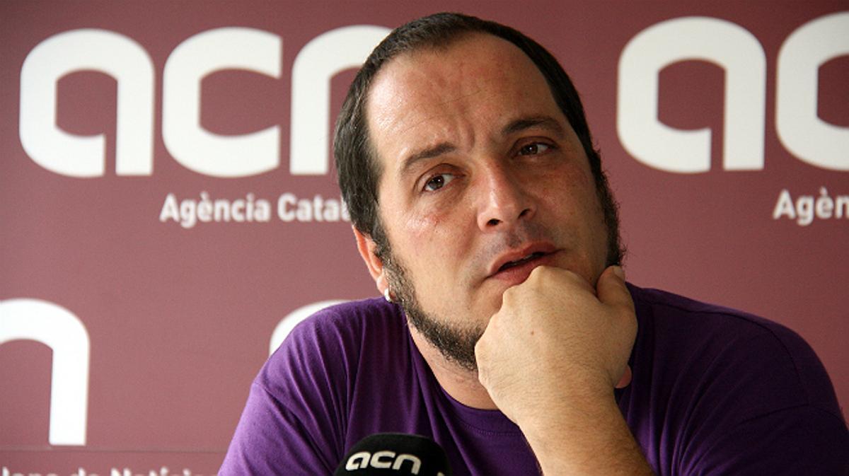 El diputado de la CUP David Fernàndez durante la entrevista.
