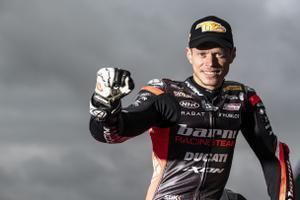 Tito Rabat, nuevo piloto de Superbikes, feliz en el test de Jerez de la pasada semana.